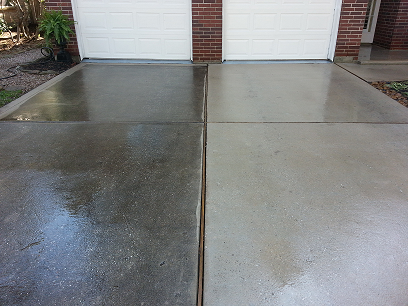 Driveway cleaning florence sc for Clean rust off concrete patio